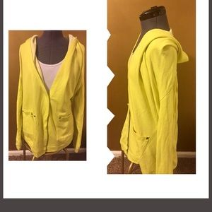 Hooded french terry jacket $6 or 3/$14